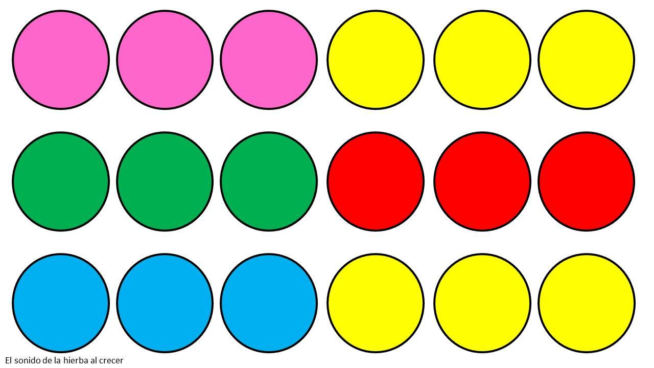 C rculos coloridos imitaci n de modelos el sonido de la hierba al crecer - Colores para la concentracion ...