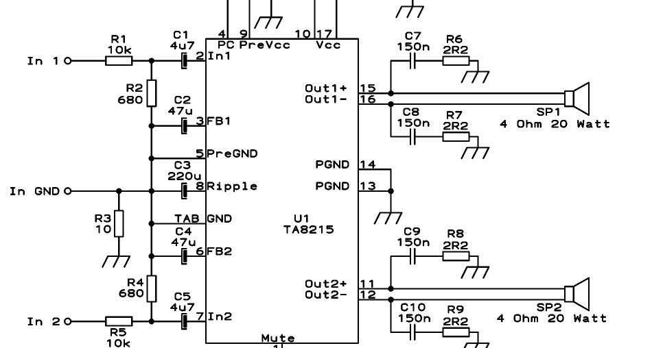 ta8215 car audio amplifier