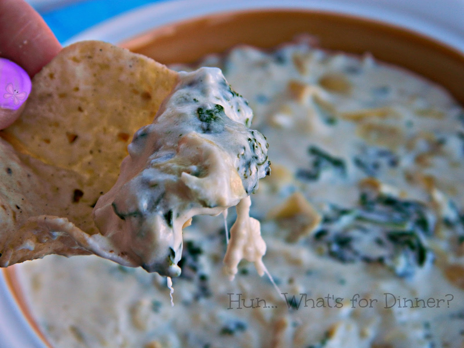 Hun... What's for Dinner? | Kale and artichokes take centre stage, in this creamy warm dip