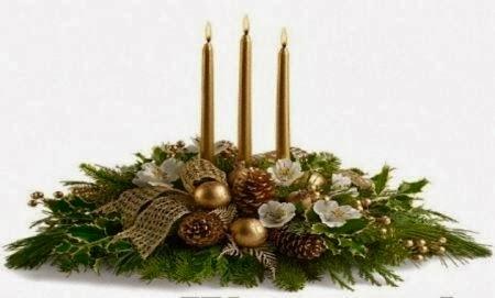 Multinotas decoraci n navide a centros de mesa dorado - Centros navidenos originales ...