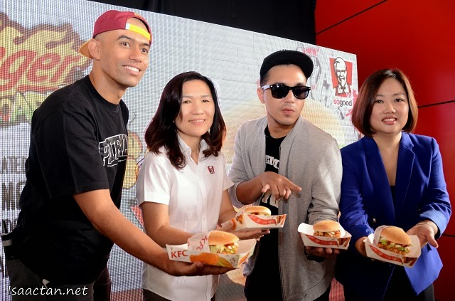 And it's officially launched, the KFC Zinger Reloaded Burger