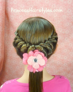 spiral twist ponytail