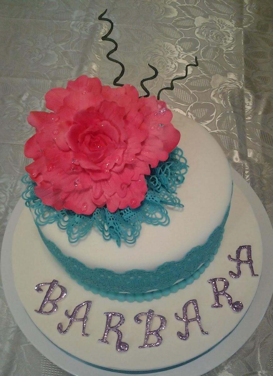 Ben noto Torta con Peonia per Barbara ^^ - Le Torte di Antonella YA84