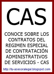 CAS regimen especial de contratacion