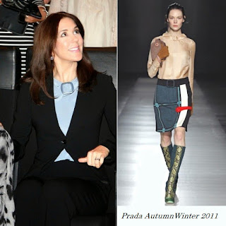 Princess Mary of Denmark Style PRADA AutumnWinter 2011 Top