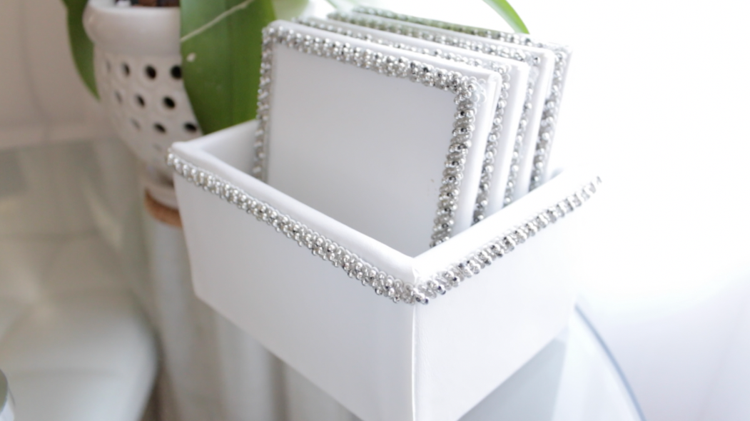 DIY Chic White Coasters