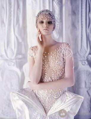 White Michael Cinco Wedding Dresses