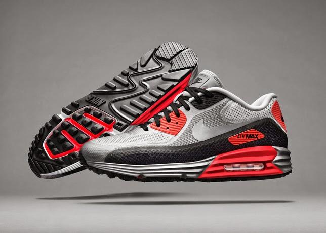 Nike Air Max Lunar90 Infrared White Black Red