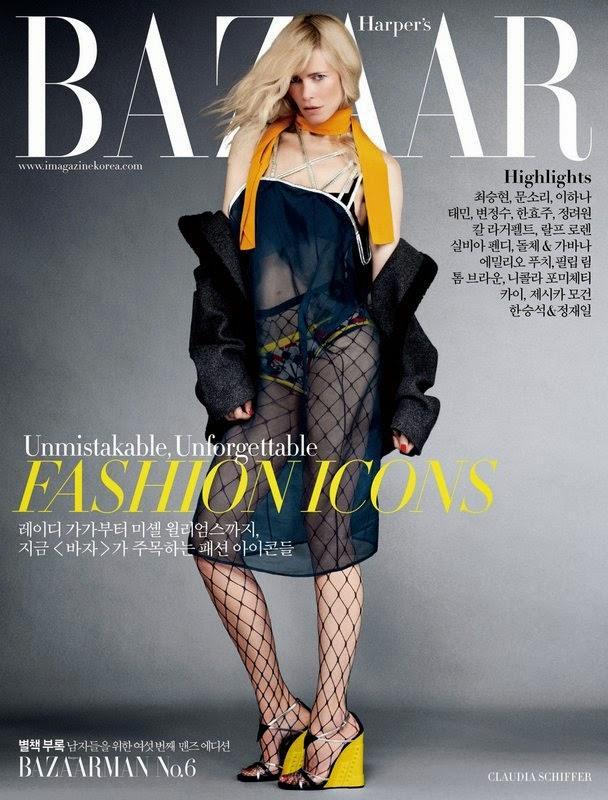 Claudia Schiffer by Sebastián Faena for Harper's Bazaar Magazine, Korea, September 2014