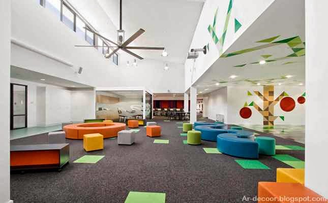 Z Classroom Design ~ ديكورات مدارس وألوان المدارس الحديثة لتعليم أفضل