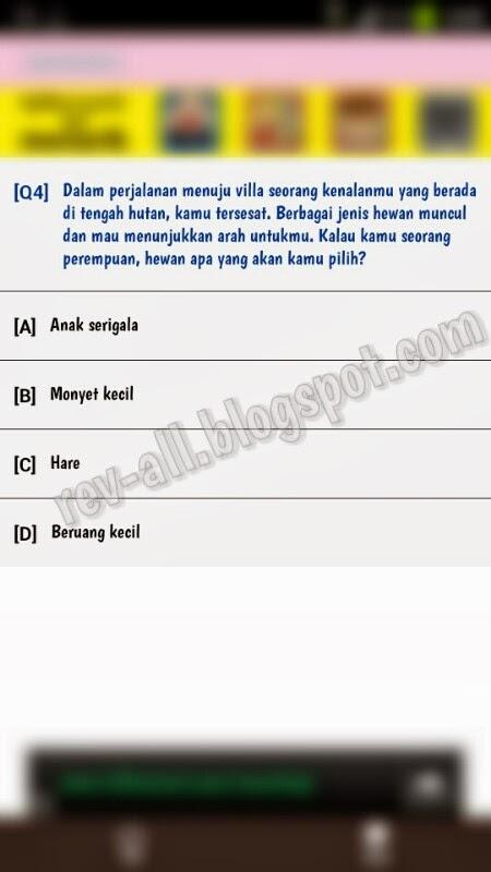 Contoh soal aplikasi Android - Test Psikologi Cinta (rev-all.blogspot.com)