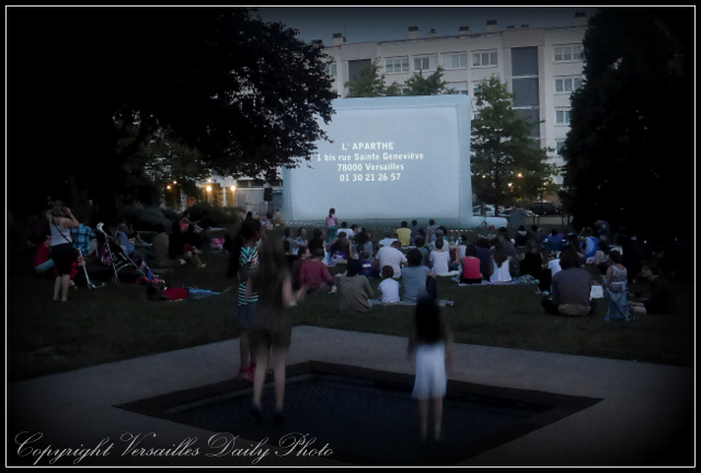 Open air cinema Versailles