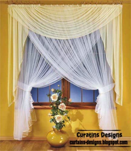 Stylish sheer curtain designs ideas in beautiful colors for Sheer panel curtain ideas