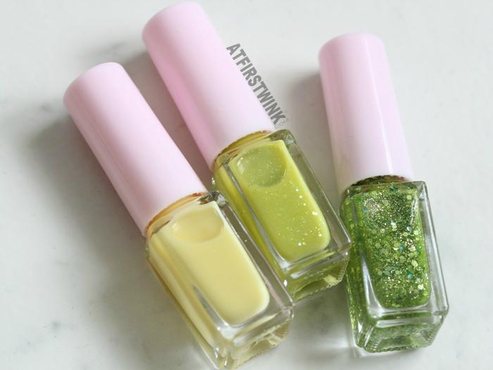 Etude House Juicy Cocktail gradation nails 8 - Lime Squash nail polishes