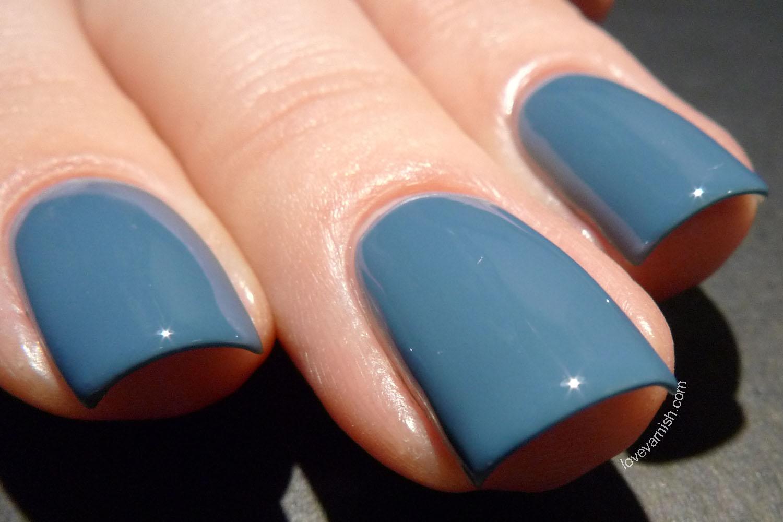 Hema Midnight Grey blue nail polish