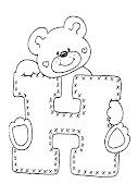 Dibujos abecedario de osos (osito)