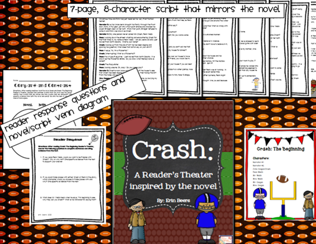 http://www.teacherspayteachers.com/Product/Crash-The-BeginningA-Readers-Theater-inspired-by-the-novel-932135