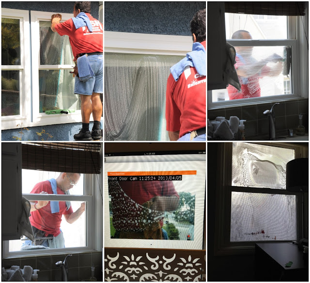window cleaning men wiping
