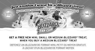 Free Dairy Queen Blizzard