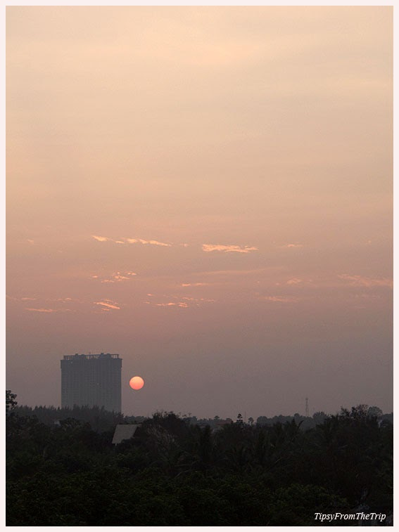 A sunset from the outskirts of Chennai city