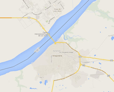 Mapa da cidade de Uruguaiana – RS