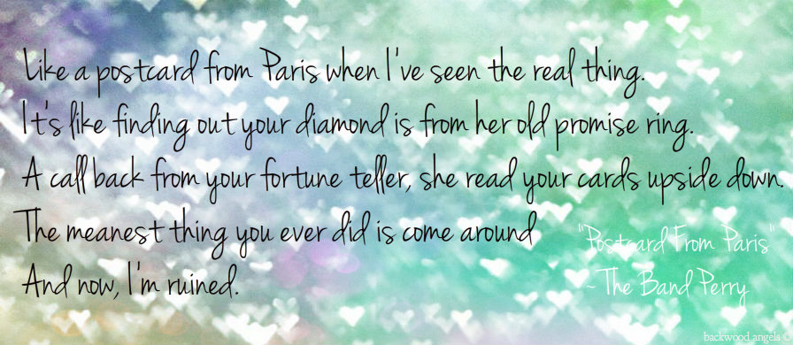Postcards from paris lyrics