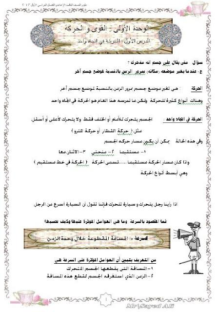 حصريا لطلاب الصف الاول / الثانى/ الثالث الاعدادى اجمل الملخصات من مصراوى22 157