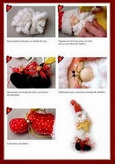 Enfeitinhos natalinos de feltro com moldes