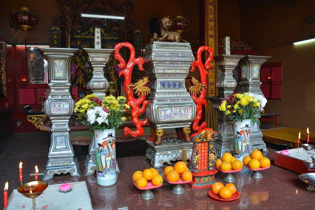 Guan Di Temple Kuala Lumpur altar