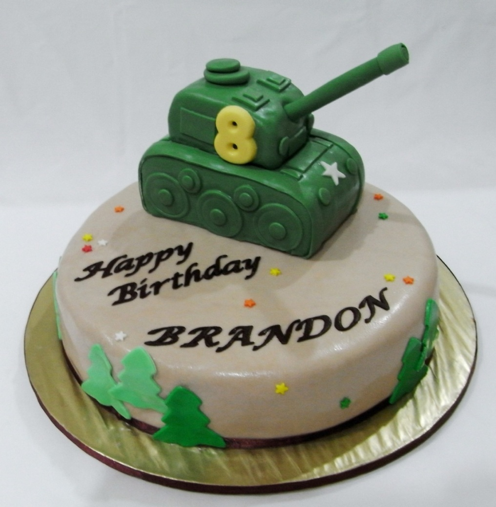 Bearylicious Cakes Army Tank Birthday Cake