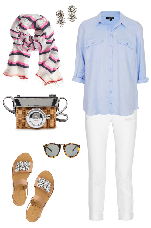 How to style a chambray top for spring!
