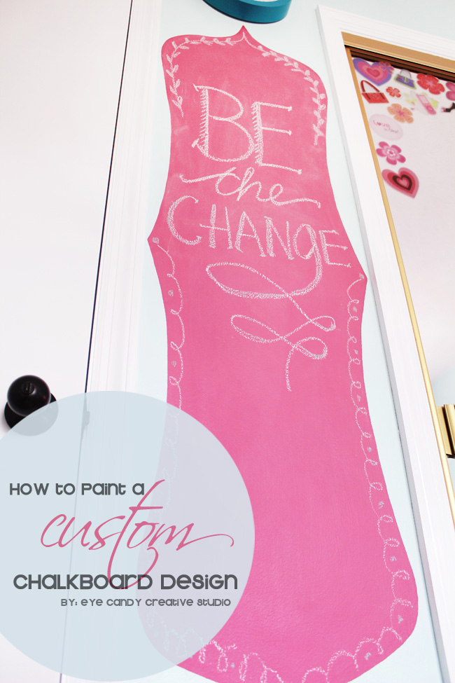 how to paint a custom chalkboard design, tween room ideas, hot pink