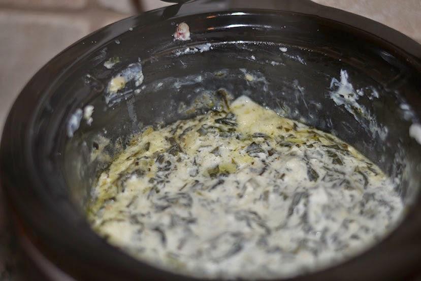 crockpot spinach dip Superbowl Snacks Cordier Events
