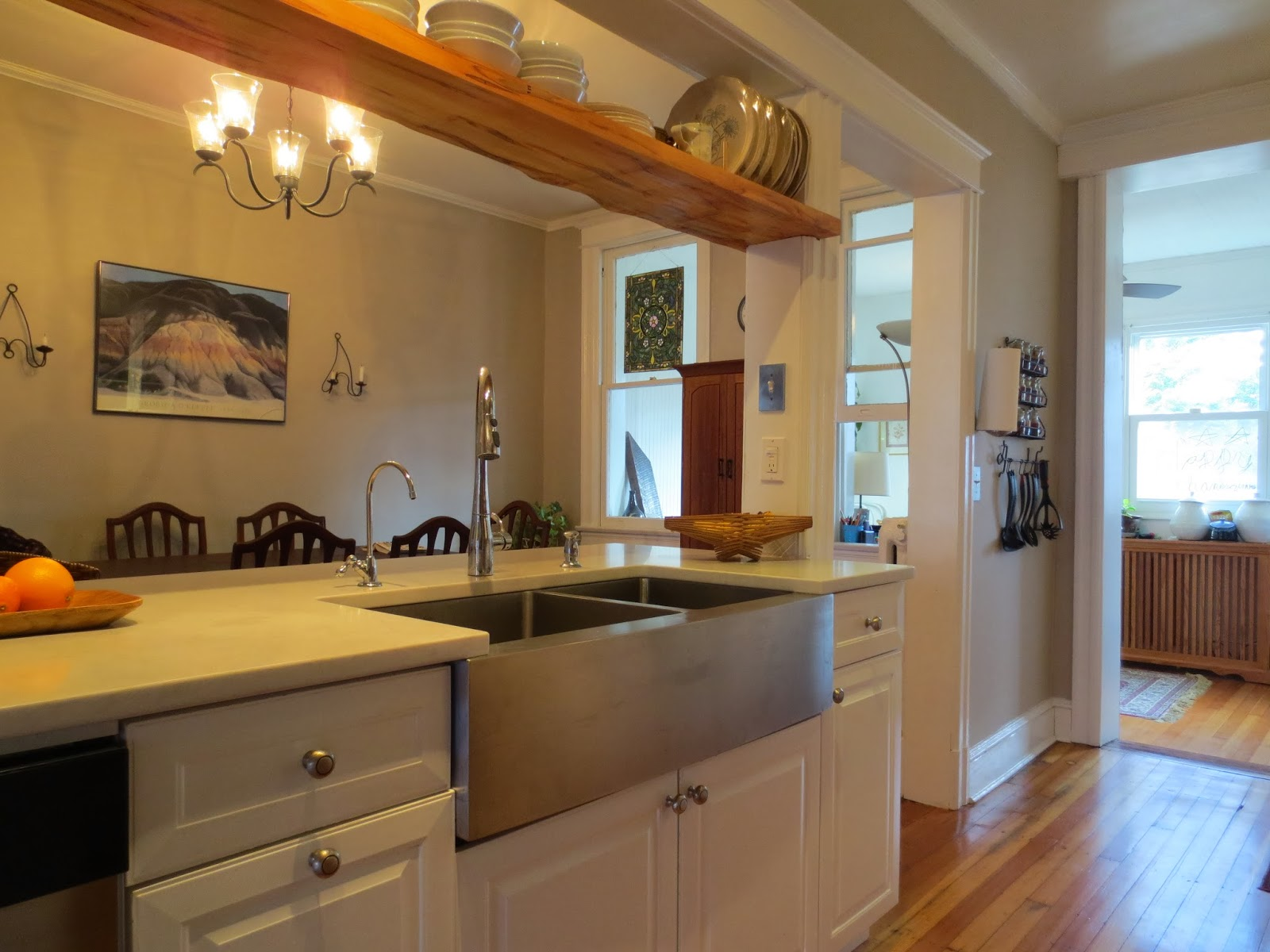 This kitchen is all about easy access  everything within reach. The