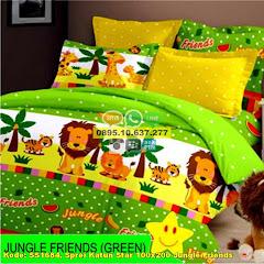 Harga Sprei Katun Star 100×200 Jungle Friends Jual