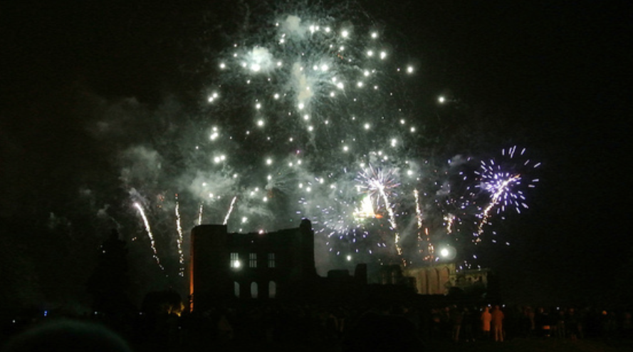 Fireworks at Kenilworth Castle