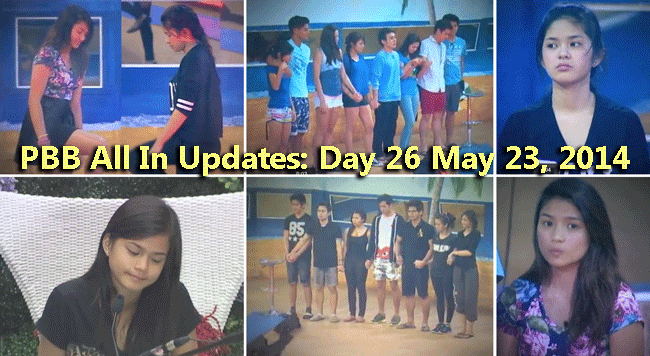 PBB All In Updates: Day 26 May 23, 2014 Loisa became emotional due to Maris' decision of staying in its team