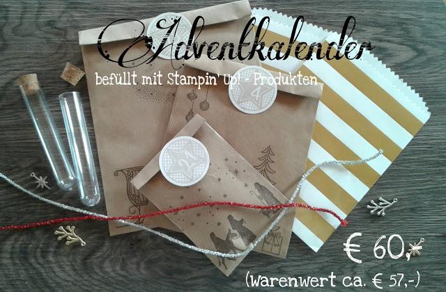Adventkalender, befüllt mit SU-Produkten