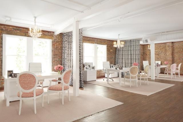 Interiors Decor - Parisian Inspired Office - style me pretty