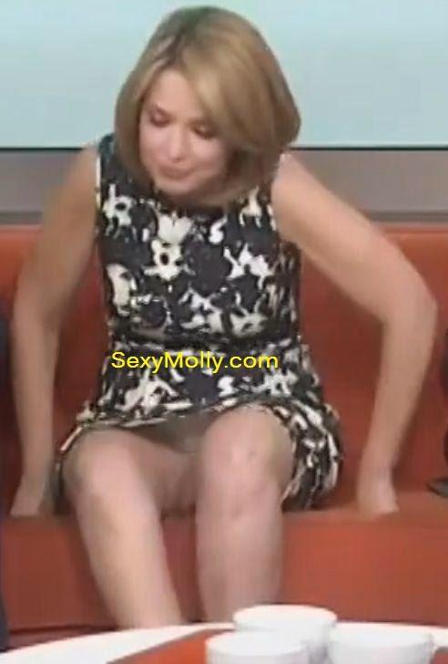 Savannah Guthrie upskirt panties zoom