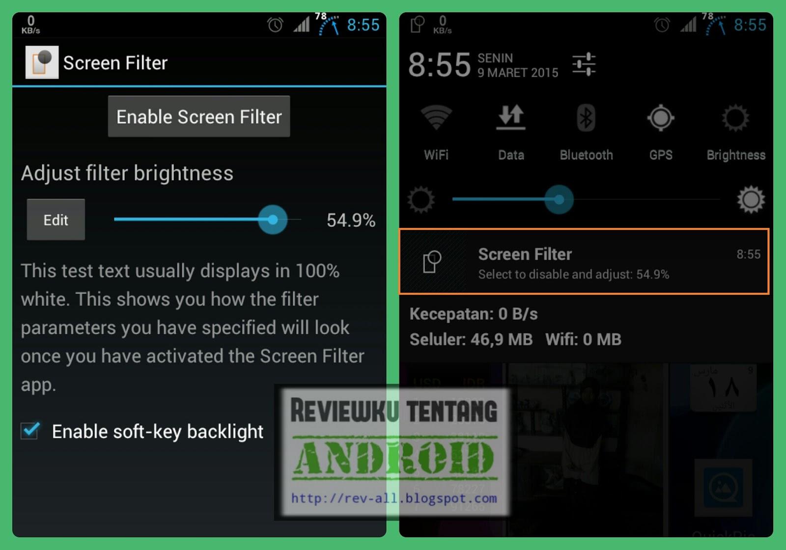 Screenshot tampilan aplikasi SCREEN FILTER - pelindung mata berukuran kecil untuk android (rev-all.blogspot.com)