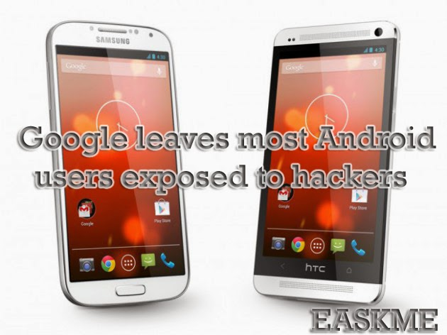 Google leaves most Android users exposed to hackers : eAskme