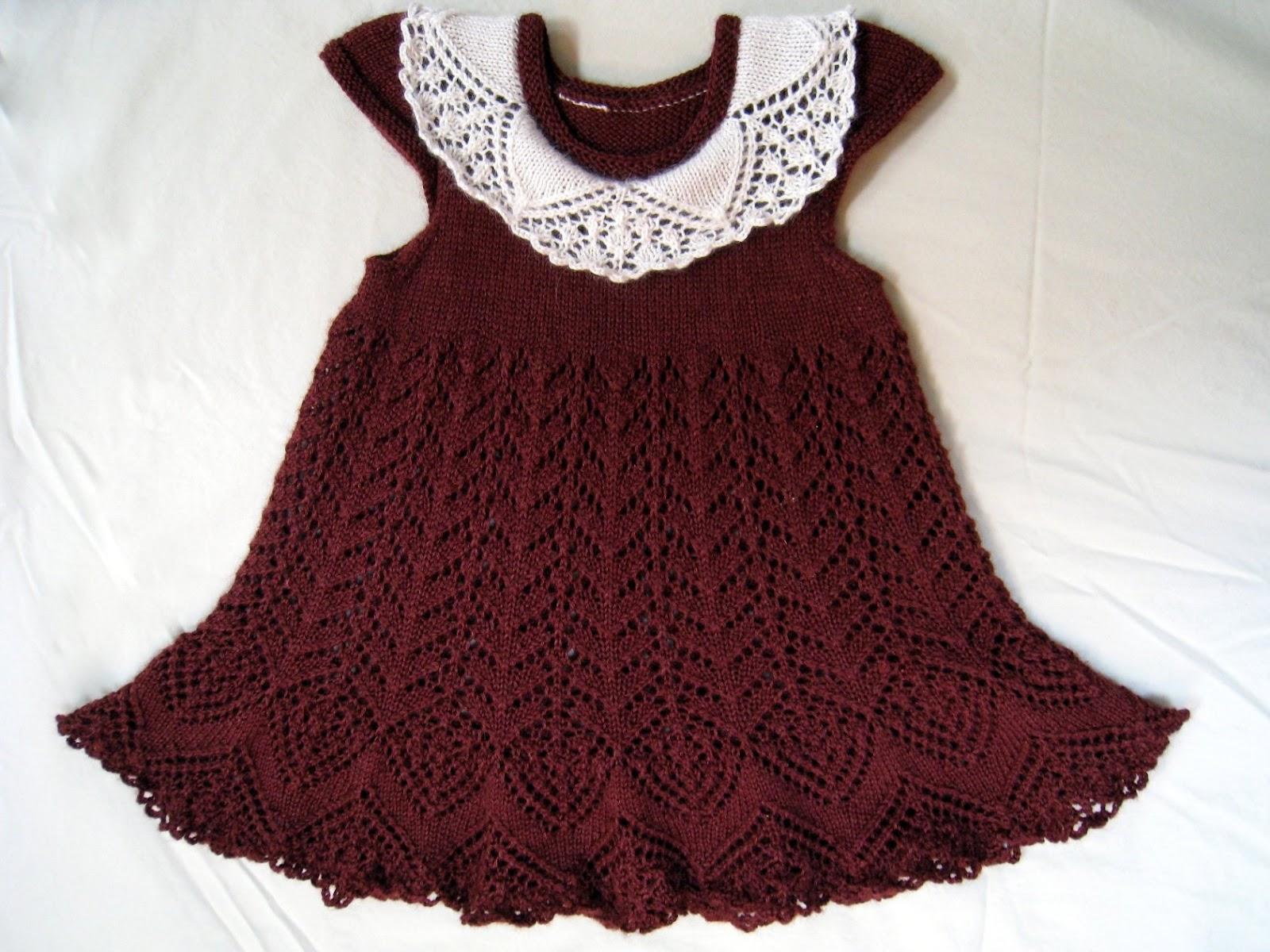 вязаное платье для девочки спицами с описанием.