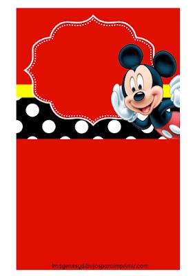 Invitaciones de mickey mouse para cumpleaños