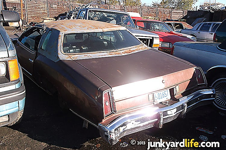 This 1974 Chevy Monte Carlo was registered last year. It was a crime for it to land at the scrap yard.