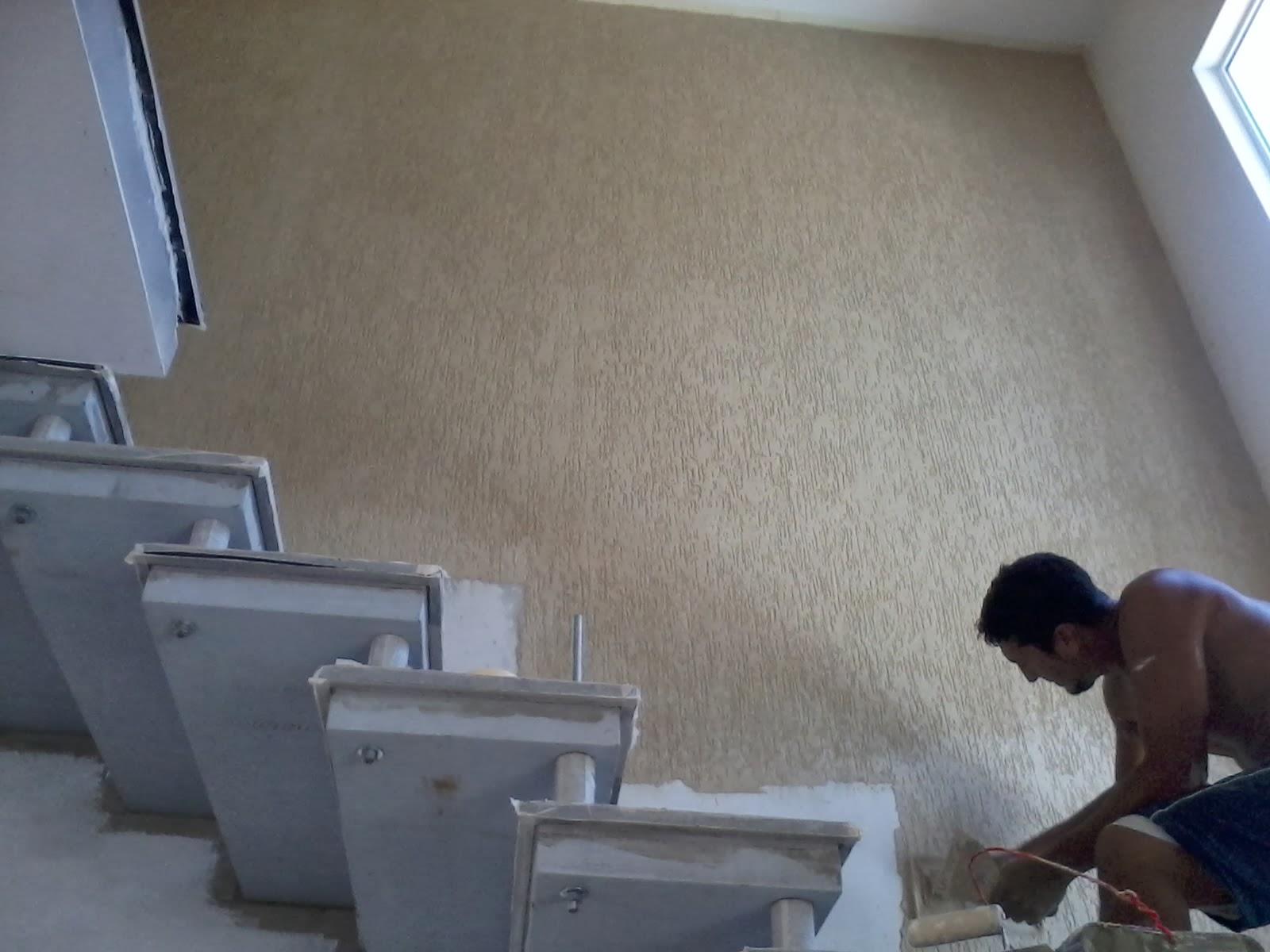 Construindo Nossa Casa Janeiro 2014 -> Fotos De Paredes Com Grafiato