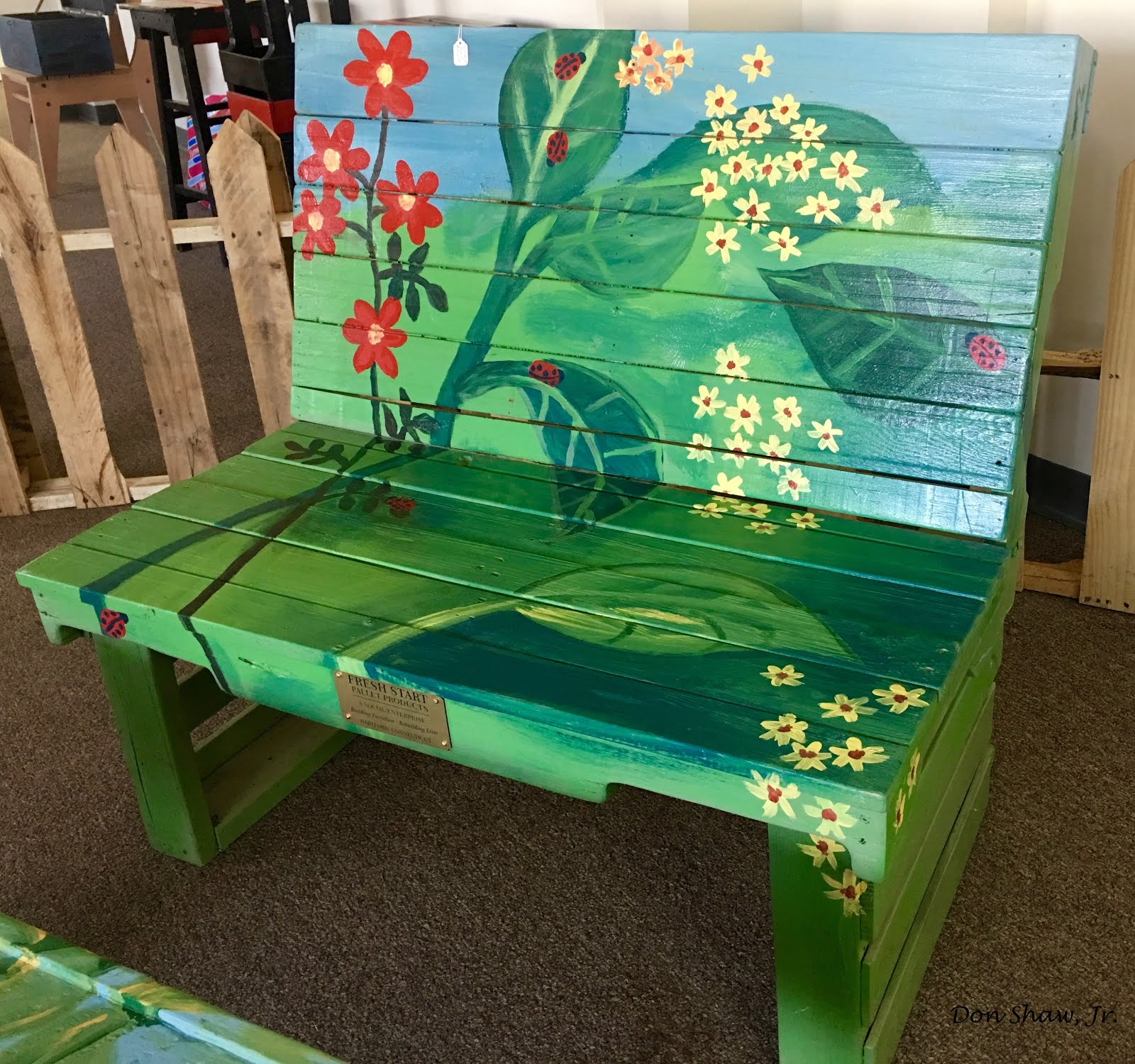 Bon One Of Fresh Startu0027s Original Furniture Offerings, A Hand Painted Garden  Bench.