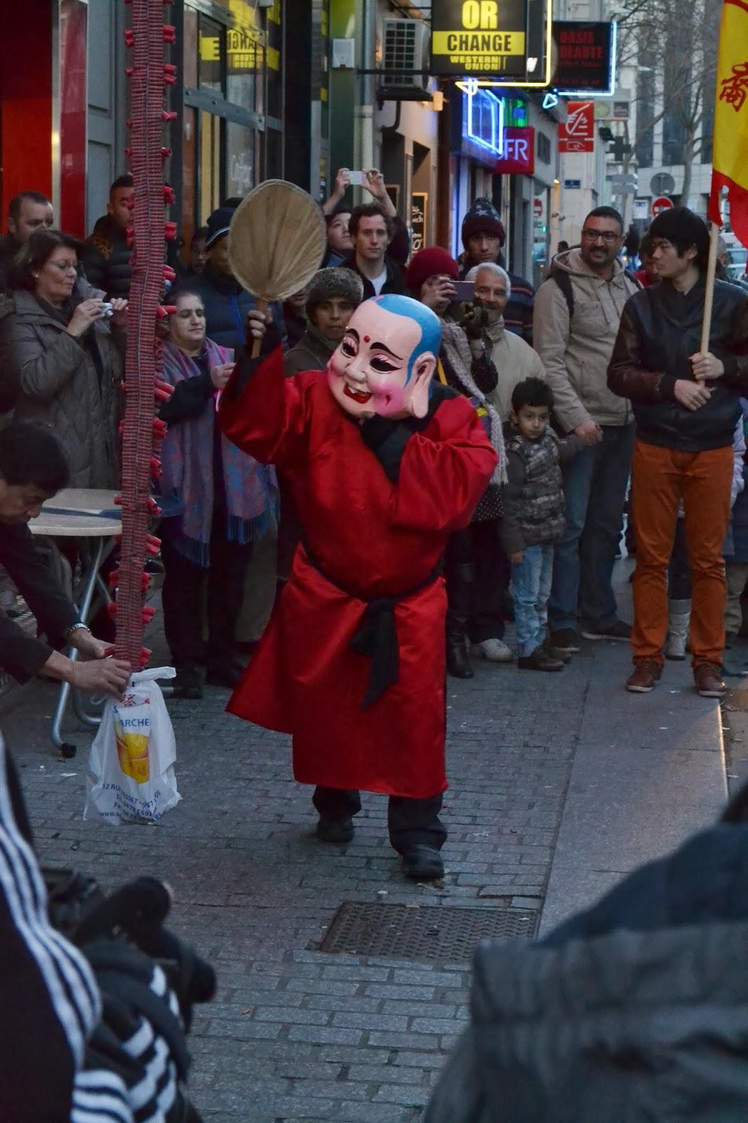 Nouvel an chinois Lyon Guillotiere 2014 cheval de bois