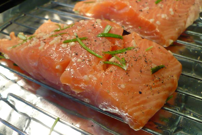Broiled Salmon With Rosemary Recipe — Dishmaps