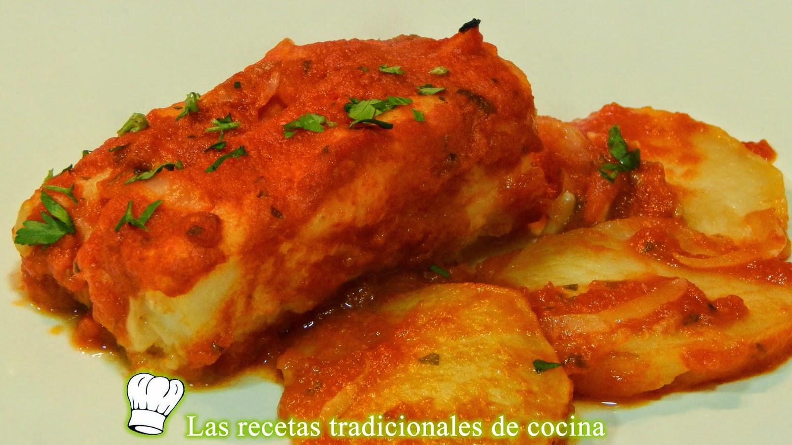 Bacalao en salsa de tomate